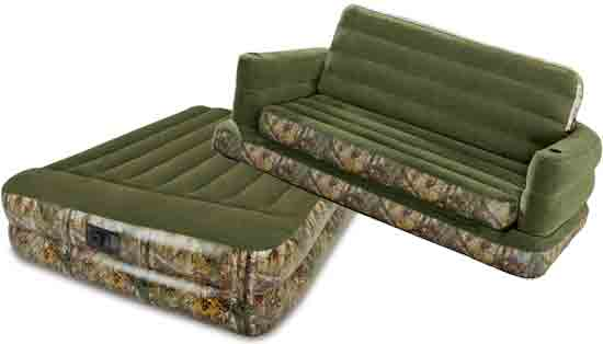 Matching Realtree Camo Sofa Bed and Mattress, Inflatable