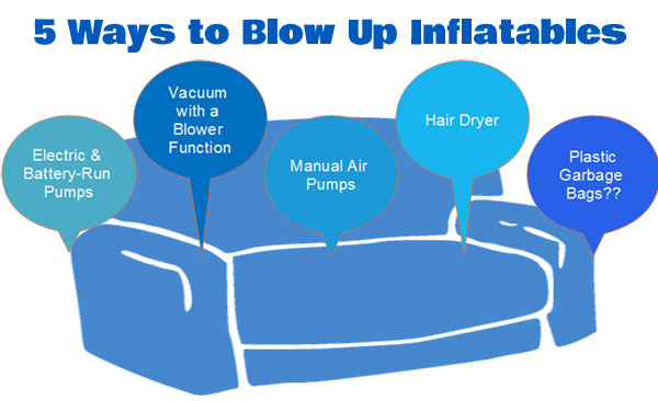 How to Blow Up Inflatables - 5 Different [Creative] Ways, Including Inflatable Furniture, Pool Toys, Air Mattresses and more