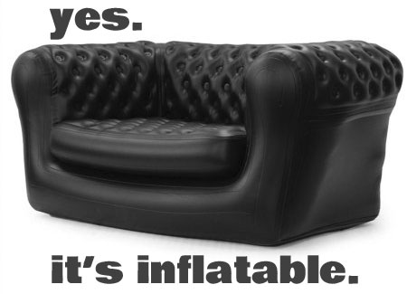 Exceptional Inflatable Chesterfield Loveseat