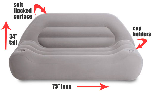Intex Inflatable Loveseat Dimensions and Features