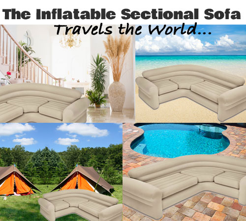 The Inflatable Sectional Sofa Travels the World