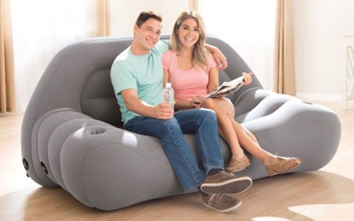 Intex Inflatable Loveseat can Fit 2 People Comfortably