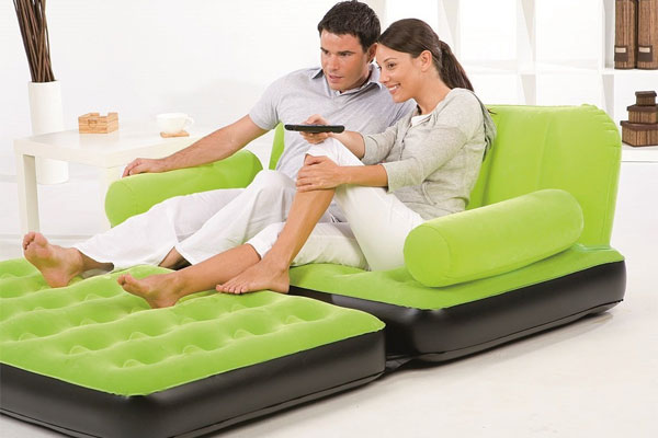 Bestway inflatable fold out couch pros cons for Bestway vs intex