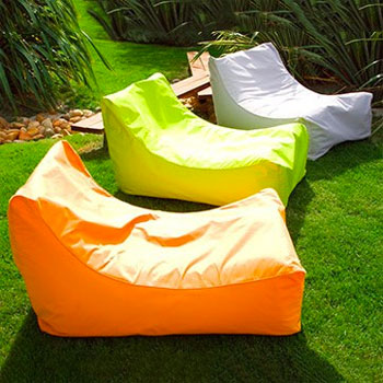 Swimline Sunsoft Inflatable Chairs In Lime Orange Gray